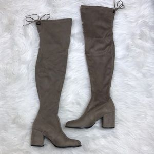 c712f736dc0 Steve Madden Shoes - Steve Madden Slayer over the knee boot taupe 7.5